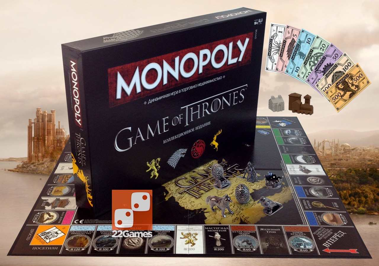 Монополия Игра Престолов Monopoly Game of Thrones