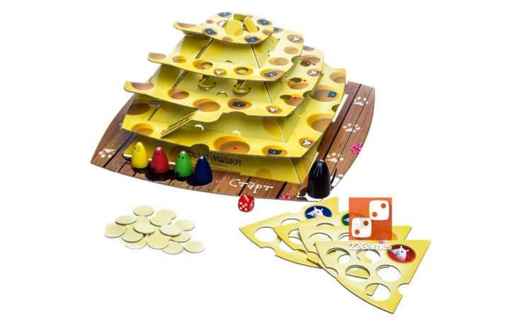 Кошки-мышки. Ловушки сырной пирамиды. 3D-игра