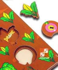 """Развивающая 3D-доска """"Овощи на грядке"""""""
