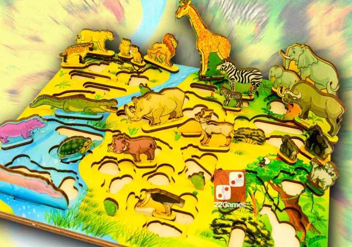 Развивающая 3D-доска «Водопой на Лимпопо»