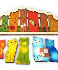"""Развивающая доска """"Разноцветные котята"""""""