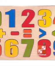 """Развивающая доска """"Разноцветные цифры"""""""