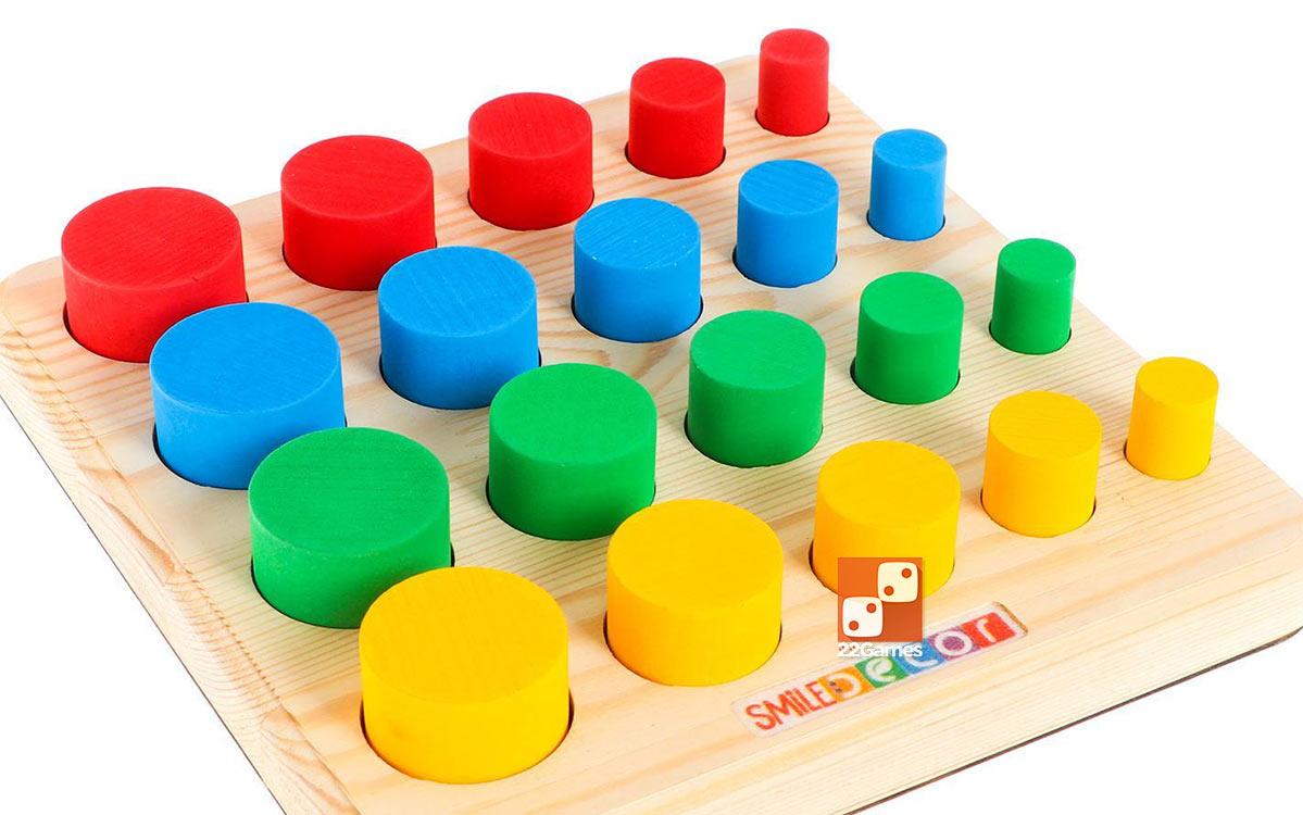 Развивающая игра «Цветные столбики»