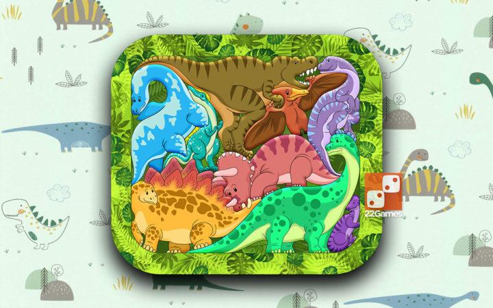 Деревянный Зоопазл «Динозавры»
