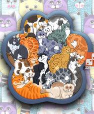 Деревянный Зоопазл «Кошки»