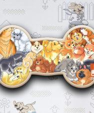 Деревянный Зоопазл «Собаки»