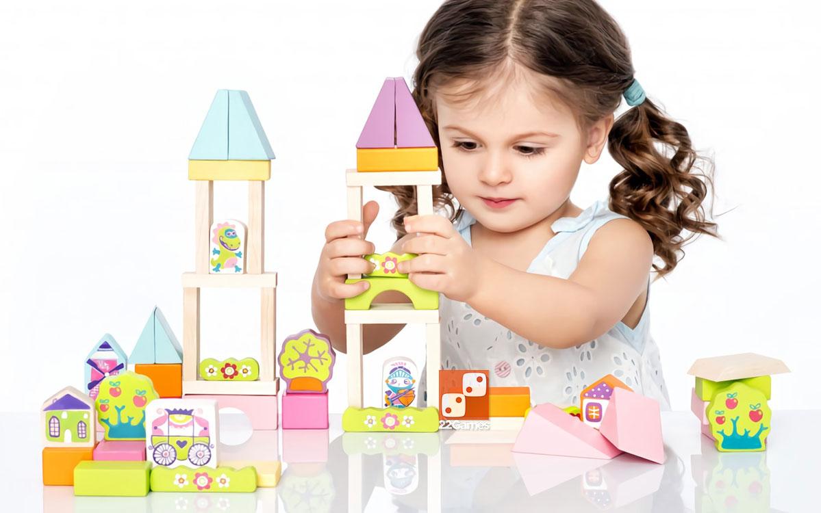 Деревянный конструктор «Городок» для девочки