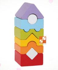 Деревянный конструктор «Башня» № 12 Логическая пирамида