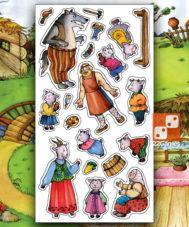 Игра с волшебными наклейками «Волк и семеро козлят»