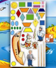 Игра с волшебными наклейками «Волшебная геометрия»