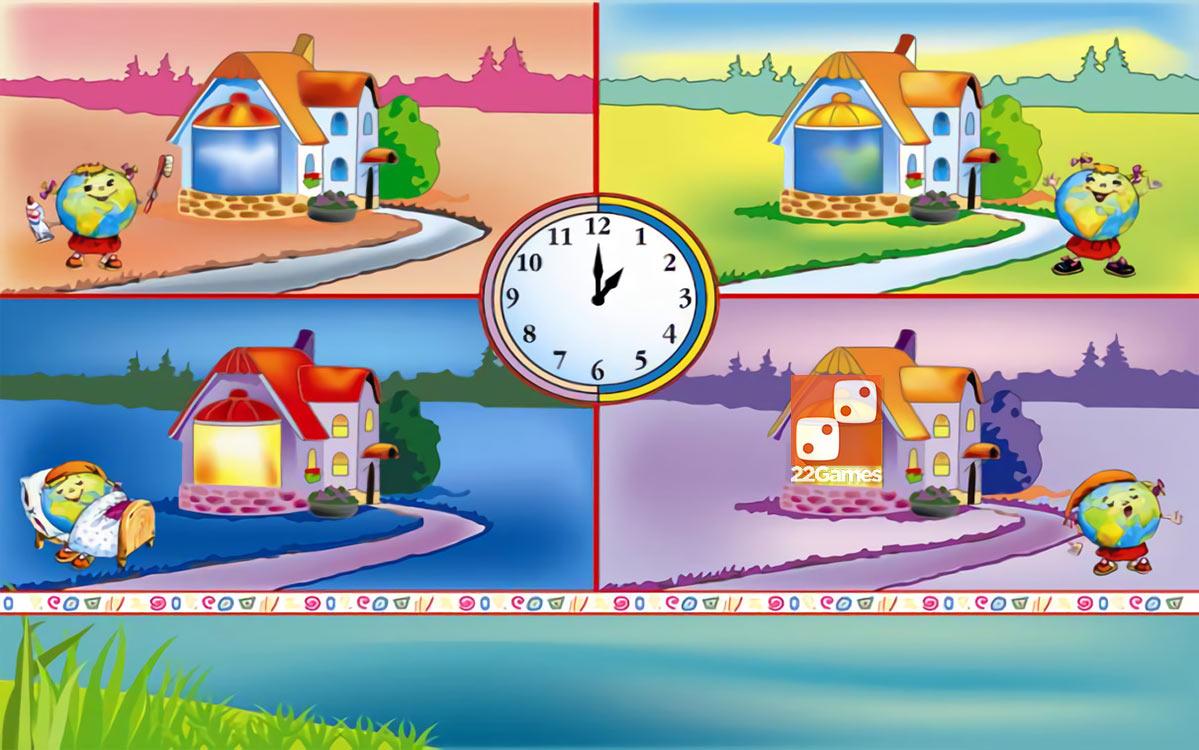 Игра с волшебными наклейками «Волшебное время»