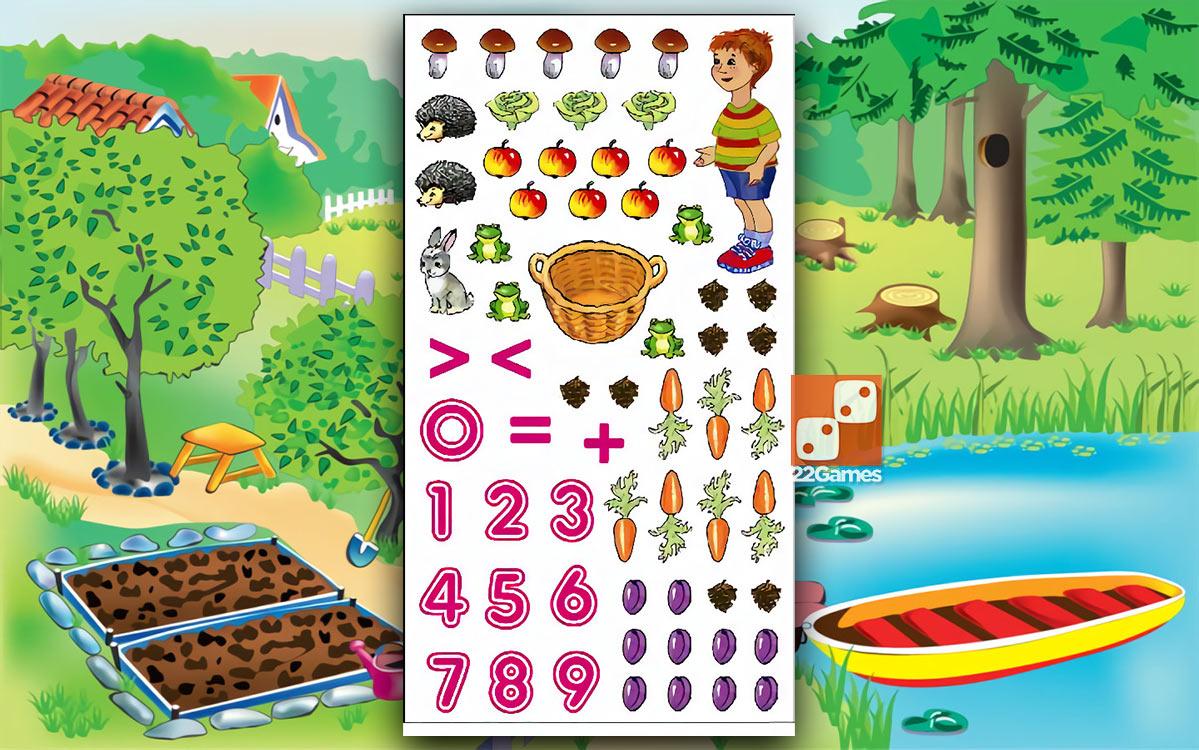 Игра с волшебными наклейками «Волшебный счет»