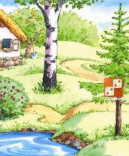 Игра с волшебными наклейками «Колобок»