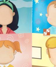 Игра с волшебными наклейками «Лица и эмоции»
