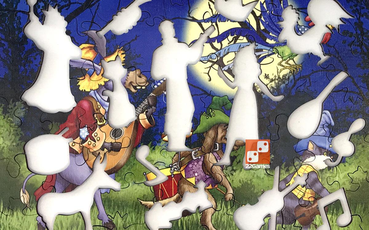 Фигурный деревянный пазл «Бременские музыканты»