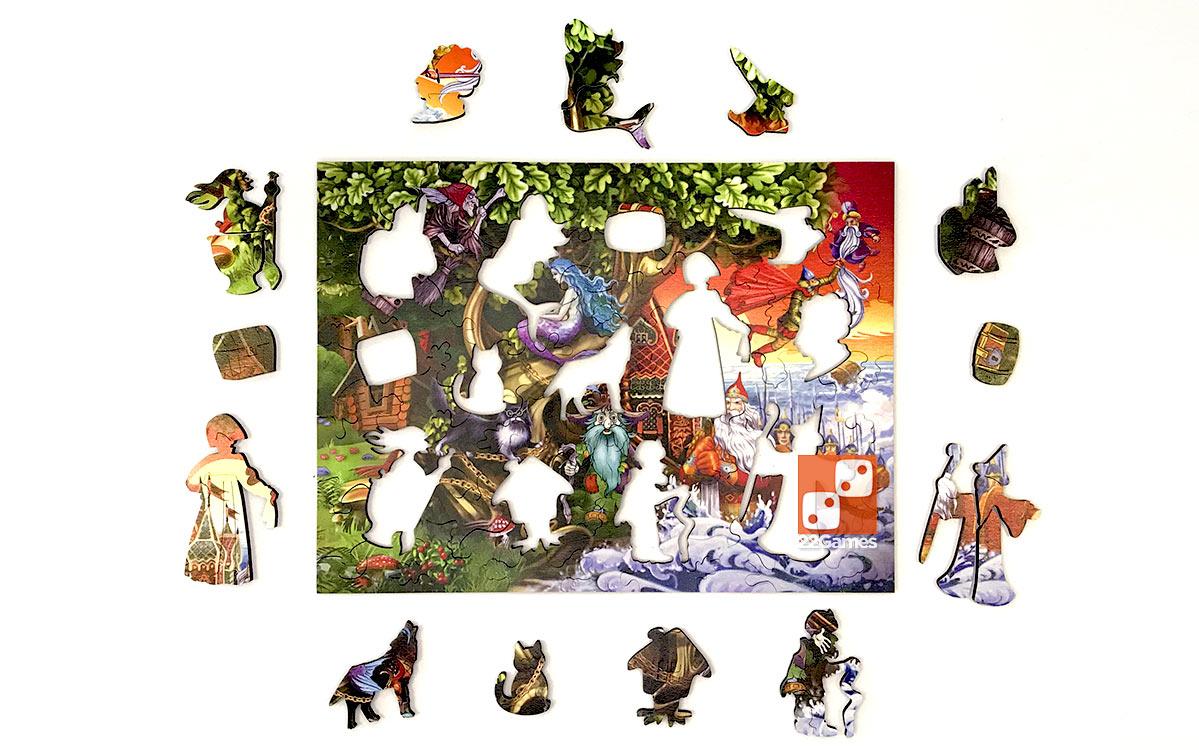 Фигурный деревянный пазл «Лукоморье»
