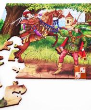 Фигурный деревянный пазл «Робин Гуд»