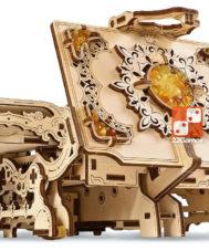 Антикварная шкатулка с янтарем UGEARS