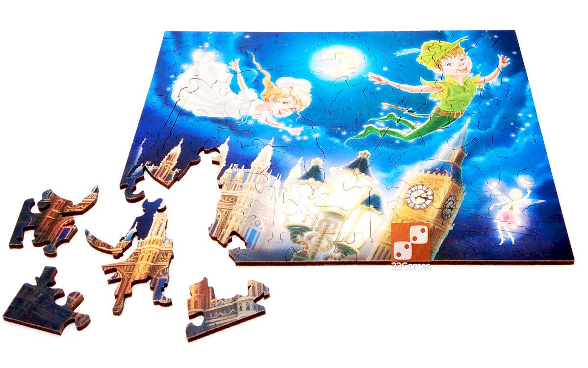 Фигурный деревянный пазл «Питер Пэн»