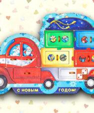 Пазл «Новогодний грузовик»