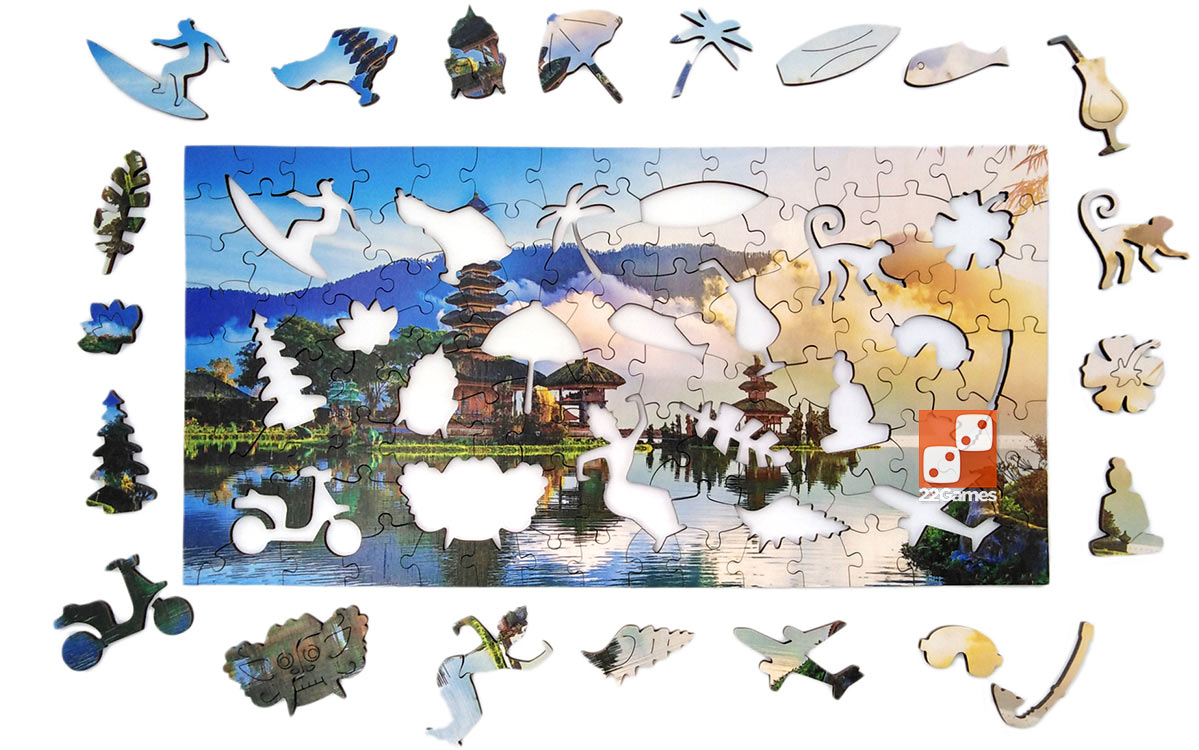 Фигурный деревянный пазл о.Бали Travel collection (130 дет.)