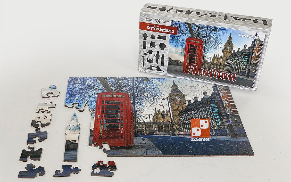 Фигурный деревянный пазл CityPuzzles «Лондон» (101 дет.)