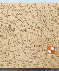 Фигурный деревянный пазл Citypuzzles «Прага» (108 дет.)