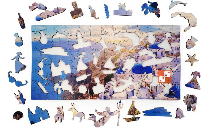 Фигурный деревянный пазл о.Санторини Travel collection (126 дет.)