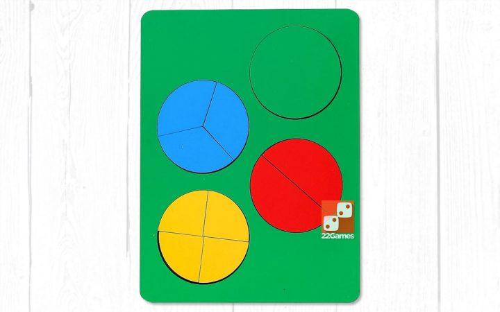 Развивающая игра «Дроби», 1 уровень сложности