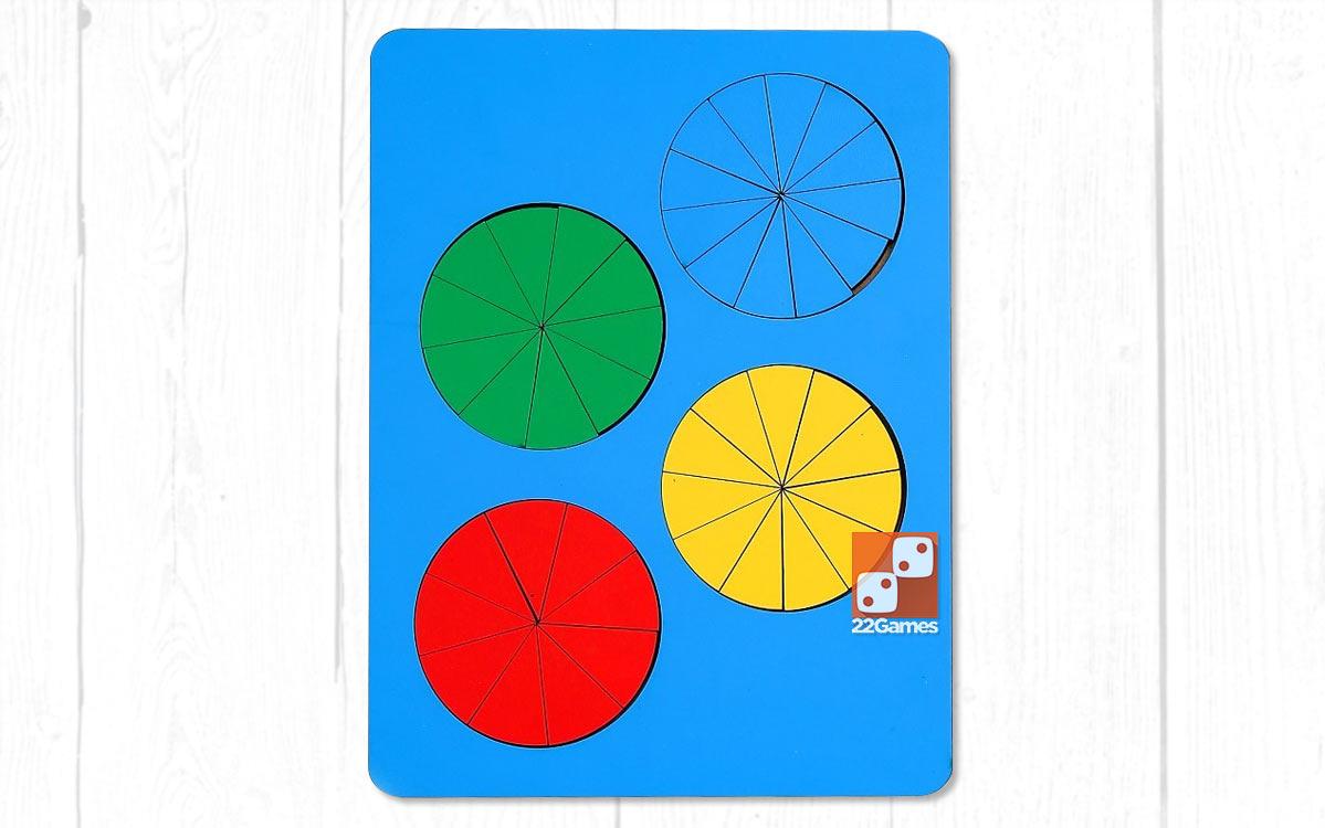 Развивающая игра «Дроби», 3 уровень сложности