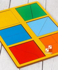 Сложи квадрат, 1 уровень сложности (мини)