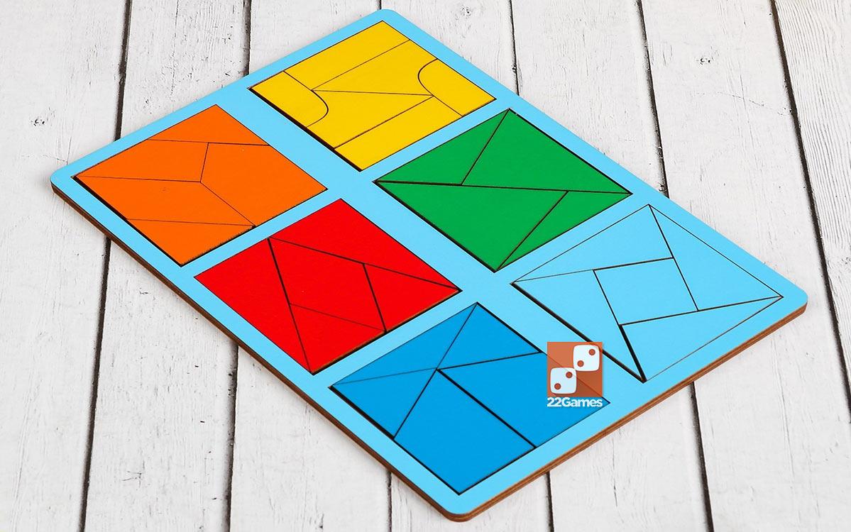 Сложи квадрат, 3 уровень сложности (мини)