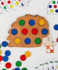 Мозаика-игра «Повтори за ежиком»