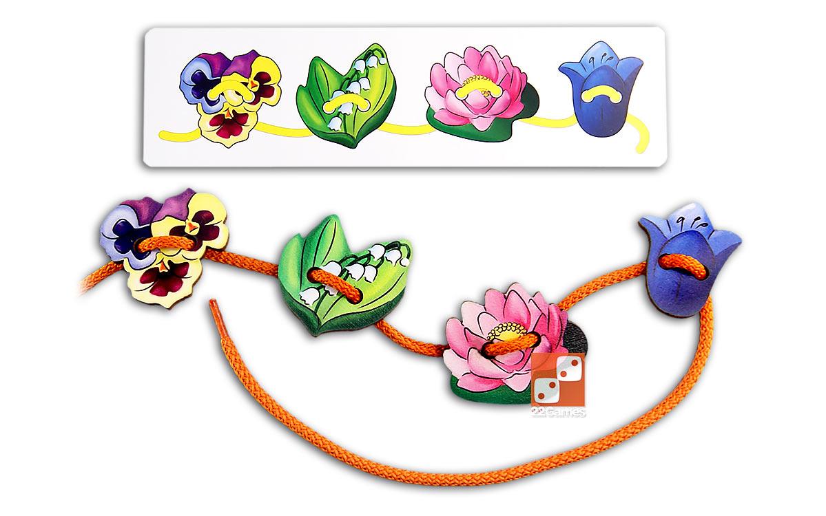Шнуровка «Цветы» (планшет)